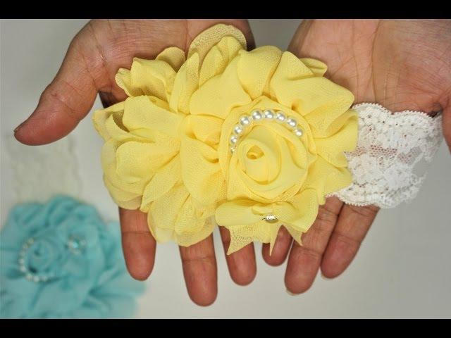 Tutorial: Como hacer una capullo de rosa de tela chifon!🌹[71]