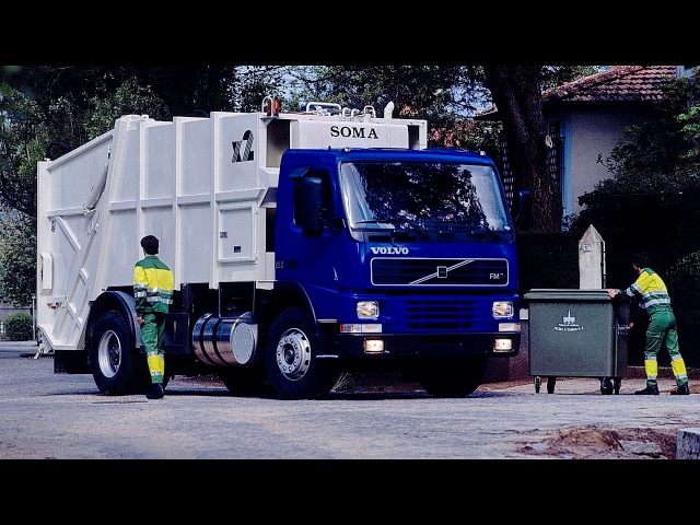 Volvo FM7 250 42 rigid Day cab Rolloffcon 1998 2001