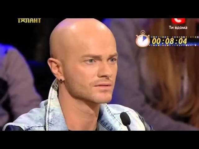 Украина мае талант все плакали от смеха*Тип отжимание на одной руке*=D
