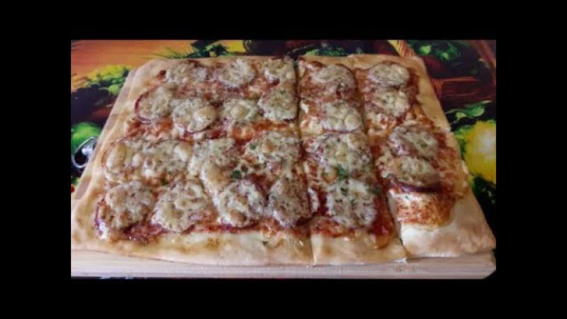 Простой рецепт пиццы на ВОДЕ Рецепт ИТАЛЬЯНСКОЙ пиццы ПИЦЦА в домашних условиях