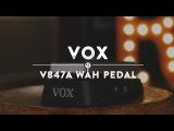 Vox V847A Wah Pedal Reverb Demo Video