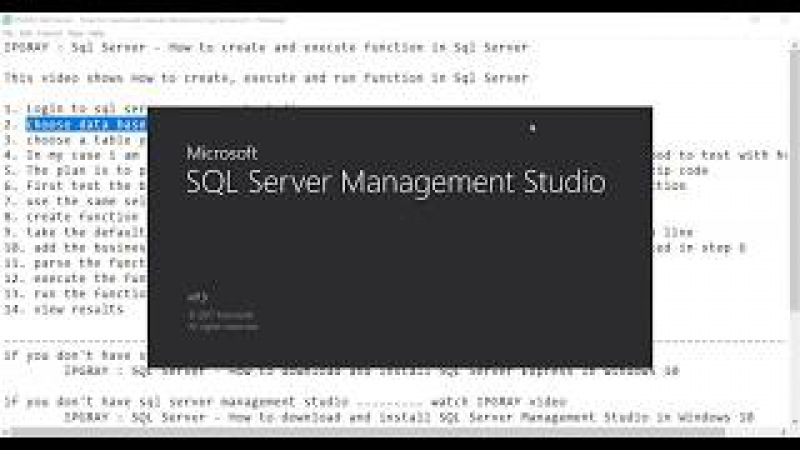 IPGRAY Sql Server How to create and execute function in Sql Server