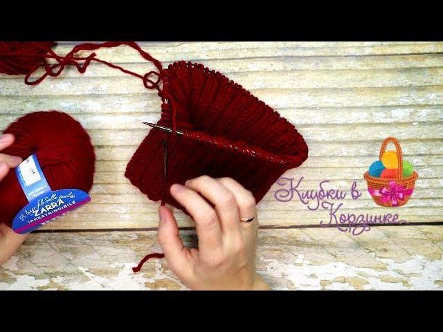 Как связать шапку спицами из 2 мотков пряжи. Вязание. KVK handmade hobby style knitting обзор пр ...