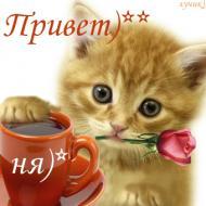 Улыбнись! Улыбка - это вторая вещь, за которую я люблю твои губы. Привет)))))))