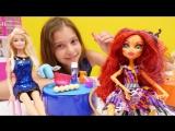 Видео для девочек #МонстерХай, #ЭверАфтерХай и Барби! КУЛИНАРНЫЙ КОНКУРС. Видео про кукол
