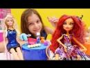 Видео для девочек МонстерХай, ЭверАфтерХай и Барби! КУЛИНАРНЫЙ КОНКУРС. Видео про кукол
