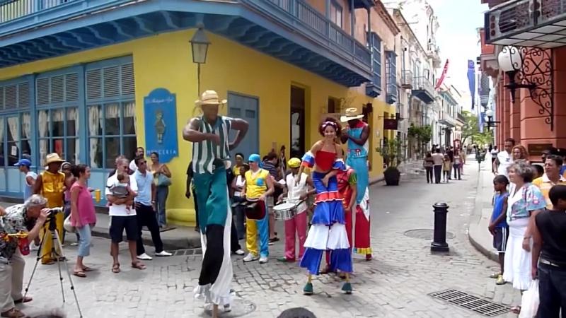 Guaguanco con sanco en La Habana Vieja