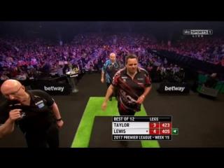 Phil Taylor vs Adrian Lewis (2017 Premier League Darts / Week 15)