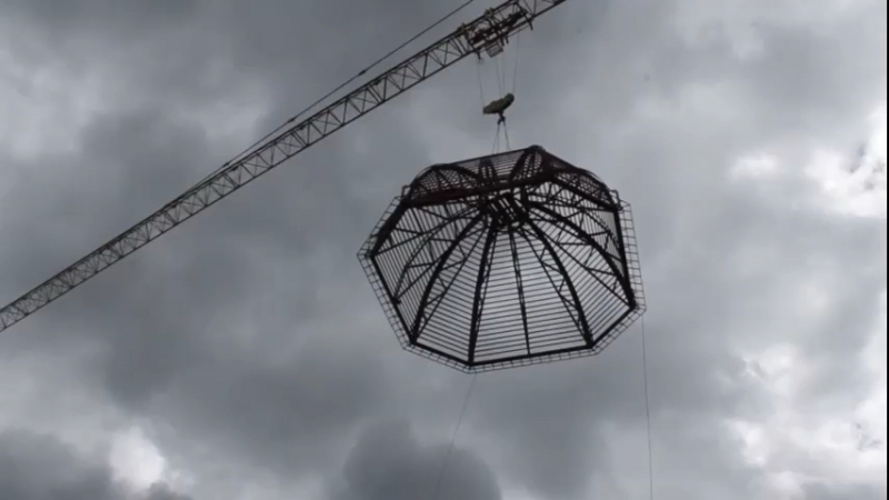 Осуществили монтаж купола