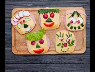 Бутерброды-смайлики