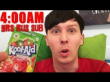 A HUNGRY Sleepless Night With Phil - TRYING AMERICAN CANDY rus sub