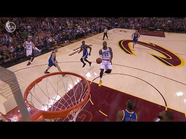 LeBron James Off The Glass Alley-Oop To Himself