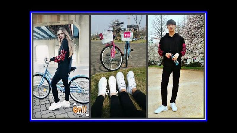 국제커플♥ Джей приехал 다시 만났다 Comeback Велосипедная прогулка