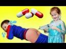 УКОЛЫ ДЕТЯМ Играем в доктора с Уколами детская игра в доктора Делаем УКОЛЫ в поп