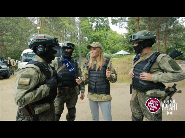 Вечерний Ургант. Острый спецназовский репортаж сАллой Михеевой (14.06.2017)