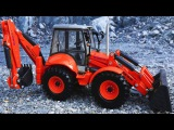 The Red Bulldozer and The Excavator - Construction Trucks Video - World of Cars for children Part 2