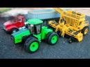 Мультики - Трактор играет с машинками - Видео для детей