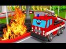 Машины помощники! СУПЕР ГОНКА Мультики про машинки для мальчиков Пожарная Машин...
