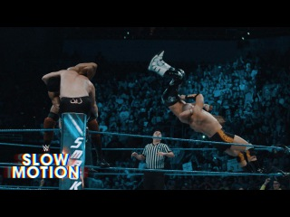 WWE Championship #1 Contender Six-Pack Challenge on SmackDown LIVE: Slow Motion Replay, Apr 18, 2017