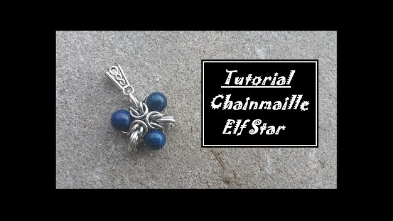 Chainmaille Pendant Tutorial Elf Stars