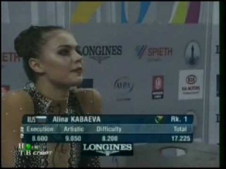 Алина Кабаева - лента (финал) // Чемпионат Мира 2007