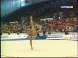 Алина Кабаева - булавы (финал) // Чемпионат Европы 2001