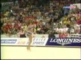 Алина Кабаева - обруч (финал) // Чемпионат Европы 2001