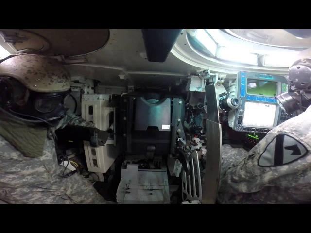 Стрельба танка, съемка изнутри - Charging of the tank gun - M1 Abrams KSI TV