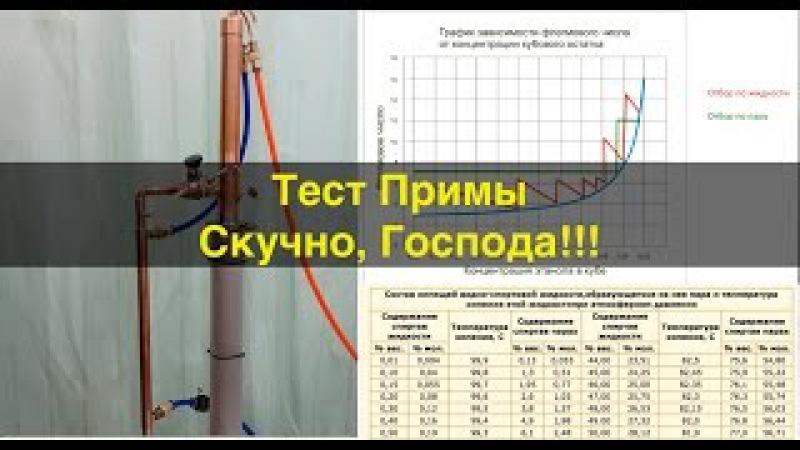 Тест ректификационной колонны Прима
