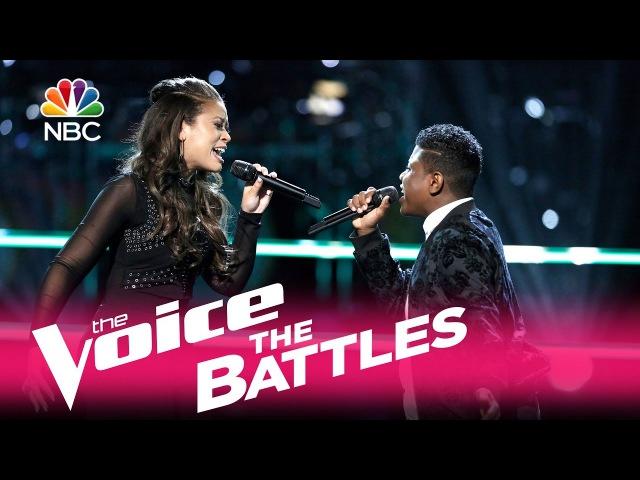 The Voice 2017 Battle - Felicia Temple vs. Quizz Swanigan: Titanium