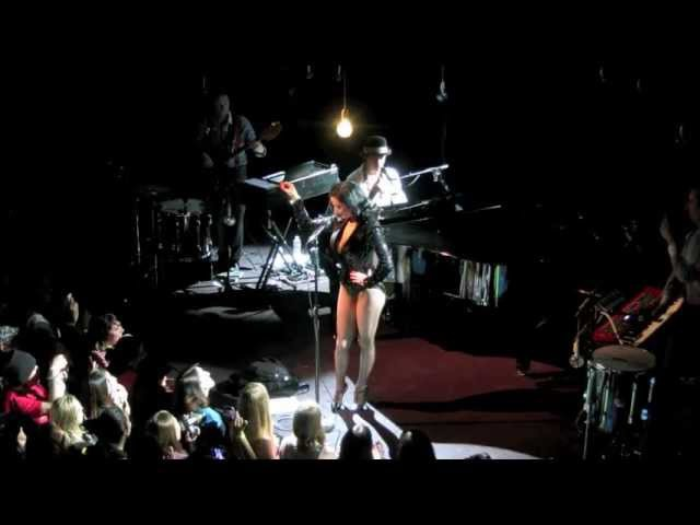 Dita von Teese surprise appearance at Mika's Brooklyn concert