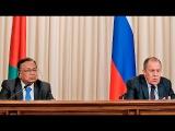 Пресс-конференция С.В.Лаврова и главы МИД Бангладеш А.Али