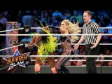 Natalya mounts a creative offense in her attempt to dethrone Naomi SummerSlam 2017 (WWE Network)
