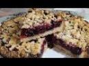 Пирог с ягодами рассыпчатый (постный) безумно вкусный/Cake with berries (lean)