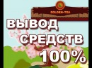 GOLDEN TEA - ВЫВОД СРЕДСТВ -100% РАБОЧИЙ ПРОЕКТ! 2017