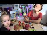 Раскрашивание гипсовых фигурок и рисование цветным песком в Островке