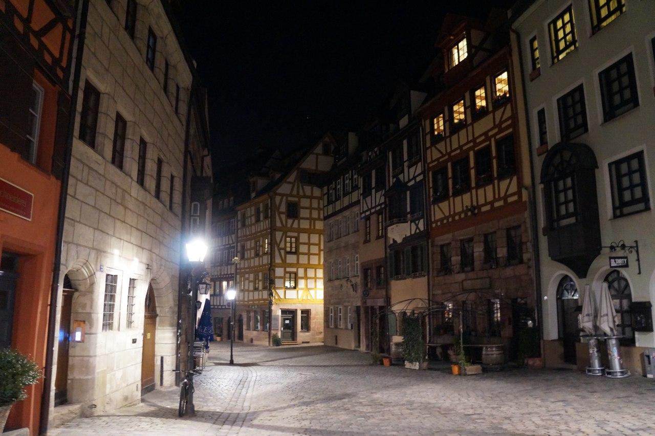 Прогулка по ночному Нюрнбергу