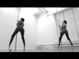 Exotic pole dance by duet DoubleЮ (Angelina Gelios & Kristina Yurchenko)