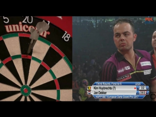 Kim Huybrechts vs Jan Dekker (European Darts Grand Prix 2017 / Round 3)
