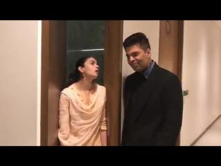 Каран Джохар и Алия Бхатт в поддержку фильма Акшая Кумара.