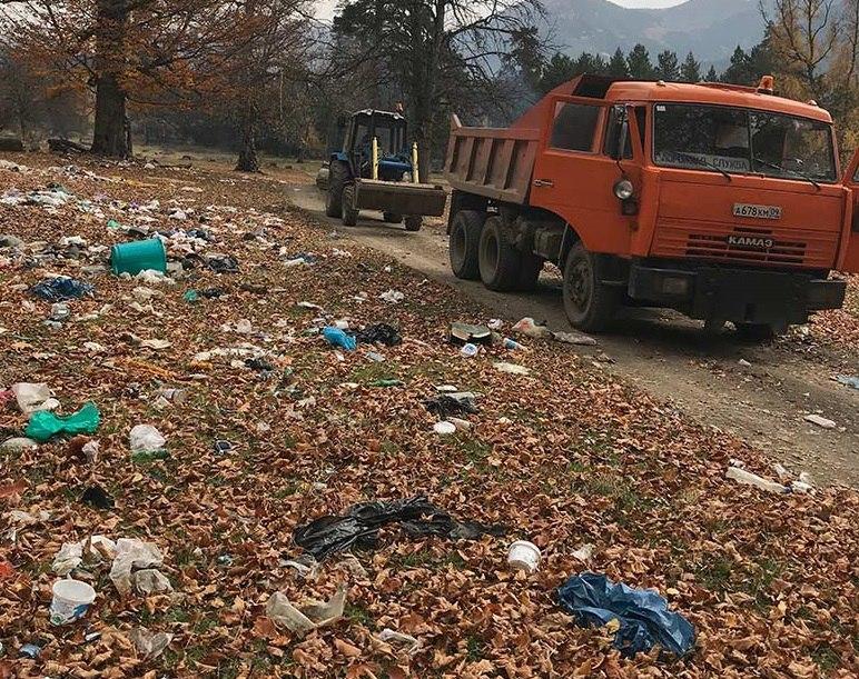 «Народный фронт» пожаловался на мусор в Архызе