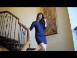 Элегантное темно-синее платье из замши  СОНЛАЙН_Интернет-магазин