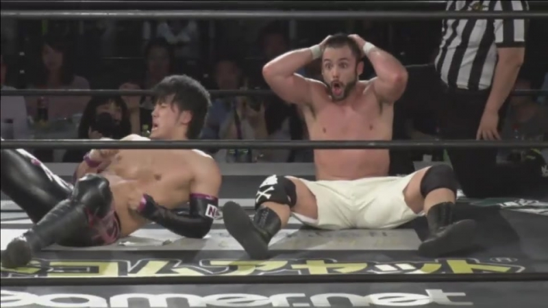 Dave Crist, MAO vs. Guanchulo, Shunma Katsumata (DDT - Beer Garden Fight 2017 ~ ALL OUT DAY ~)