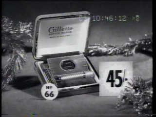 Gillette razor Xmas 1959 TV commercial