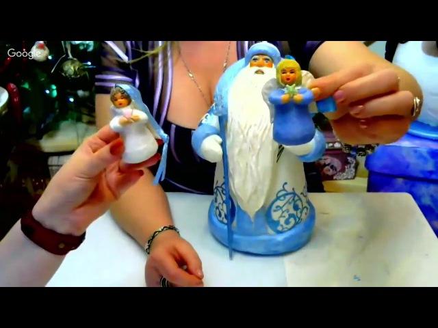 Елена Васько. ватная игрушка- Ангел.