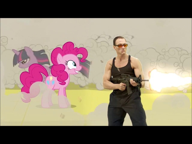 Jean-Claude Van Damme meets My Little Pony [rus sub] русские субтитры