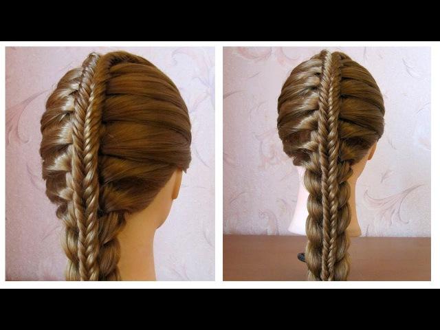 Coiffure avec tresse 🌸 Tuto coiffure pour tous les jours, facile à faire