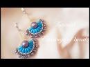 МК Серьги с применением бусин риса Tutorial Earrings use beads rice