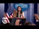 Sarah Huckabee Sanders Memorable Moments Defending President Trump | The New York Times