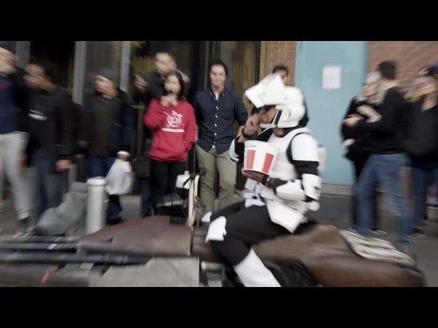 Booo! - Halloween Star Wars Speeder Bikers In NYC